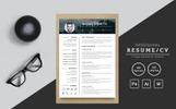 Premium CV Template over Graphics