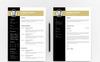 Premium Robert Smith Resume Template En stor skärmdump
