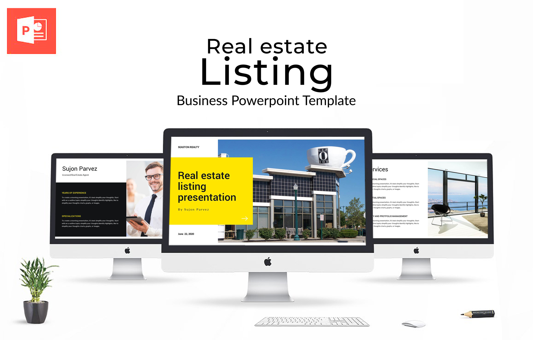 Real Estate Presentation PowerPoint Template