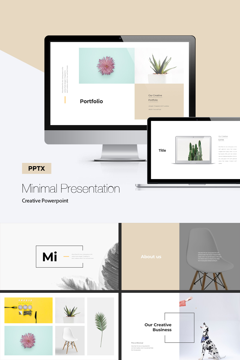 minimal presentation powerpoint template #71812, Minimal Presentation Template, Presentation templates