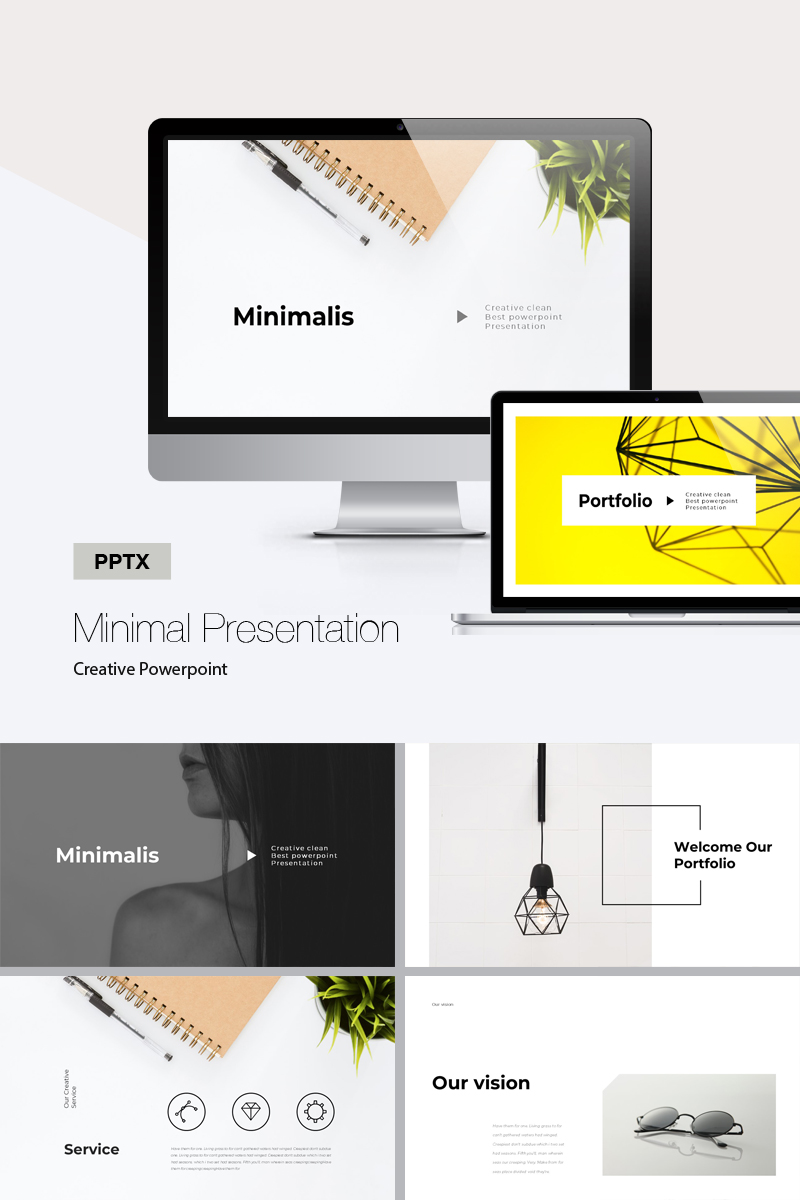 creative minimal presentation powerpoint template 72033