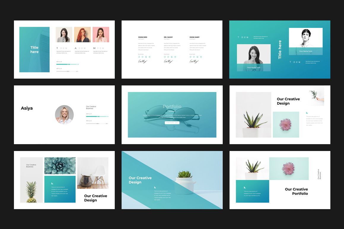 corporate powerpoint template 75852