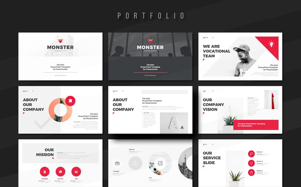 Monster Portfolio PowerPoint Template