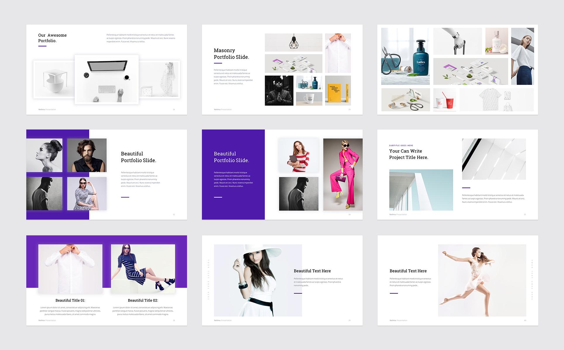Nelima modern minimal presentation powerpoint template 68747 zoom in toneelgroepblik Image collections