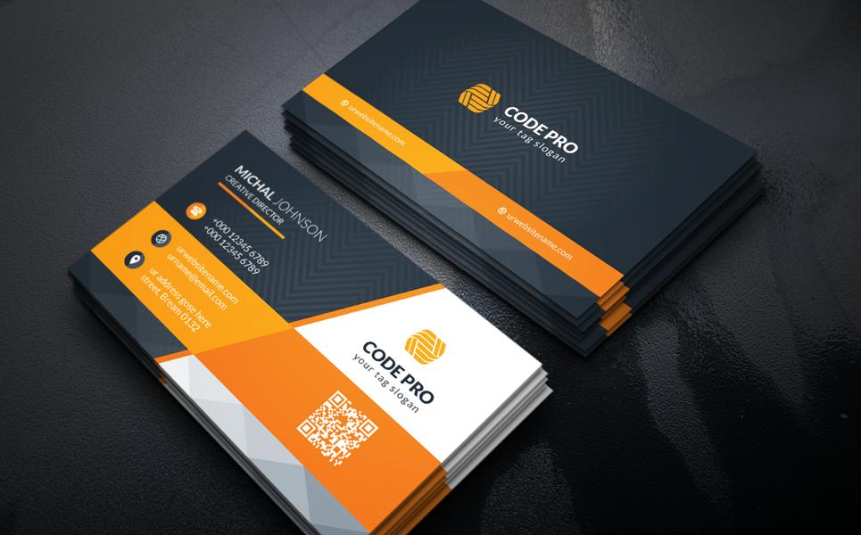 Black Coporate Business Card Corporate Identity Template Big Screenshot