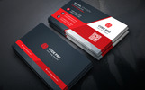 Black Coporate Business Card Corporate Identity Template