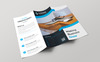 Sencuary Corporate Trifold Brochure Corporate Identity Template Big Screenshot