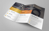Case Study Corporate Trifold Brochure Corporate Identity Template