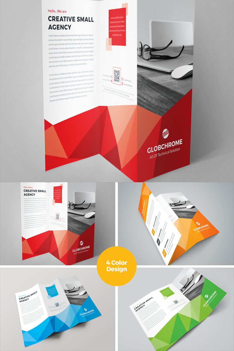 Conference trifold brochure corporate identity template 69505 for Conference brochure templates