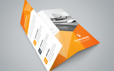 Conference Trifold Brochure Corporate Identity Template
