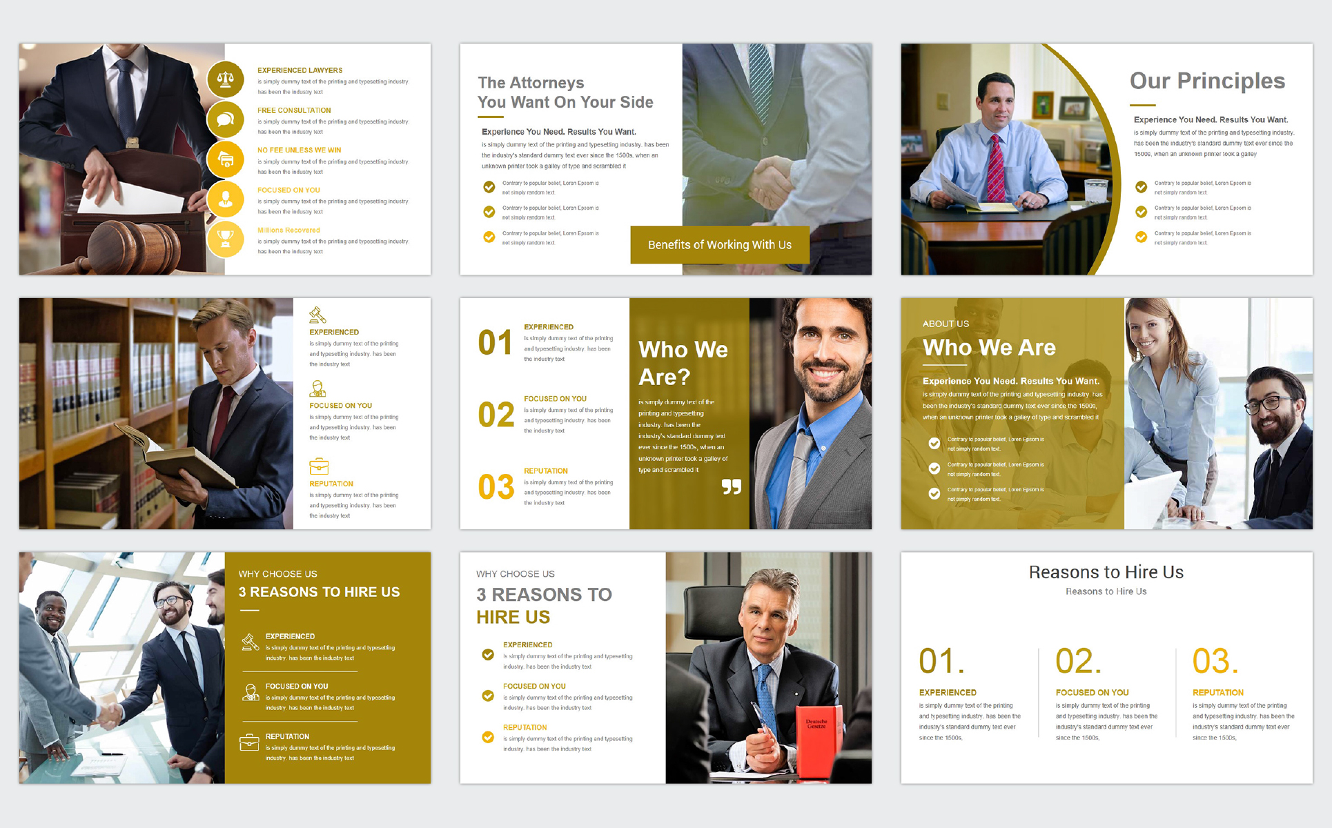Law Firm Powerpoint Template 68684