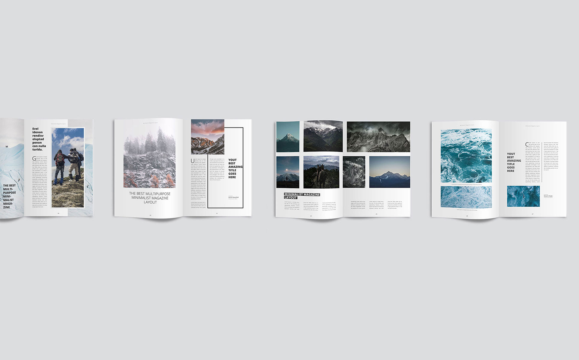 Clean And Modern Minimalist Magazine Layout Corporate