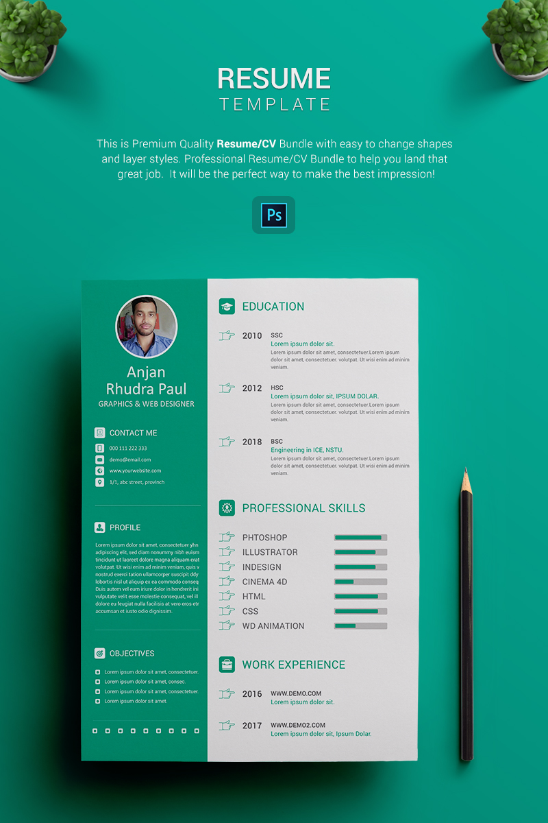 Plantilla de CV #69957 para Sitio de Diseño Web