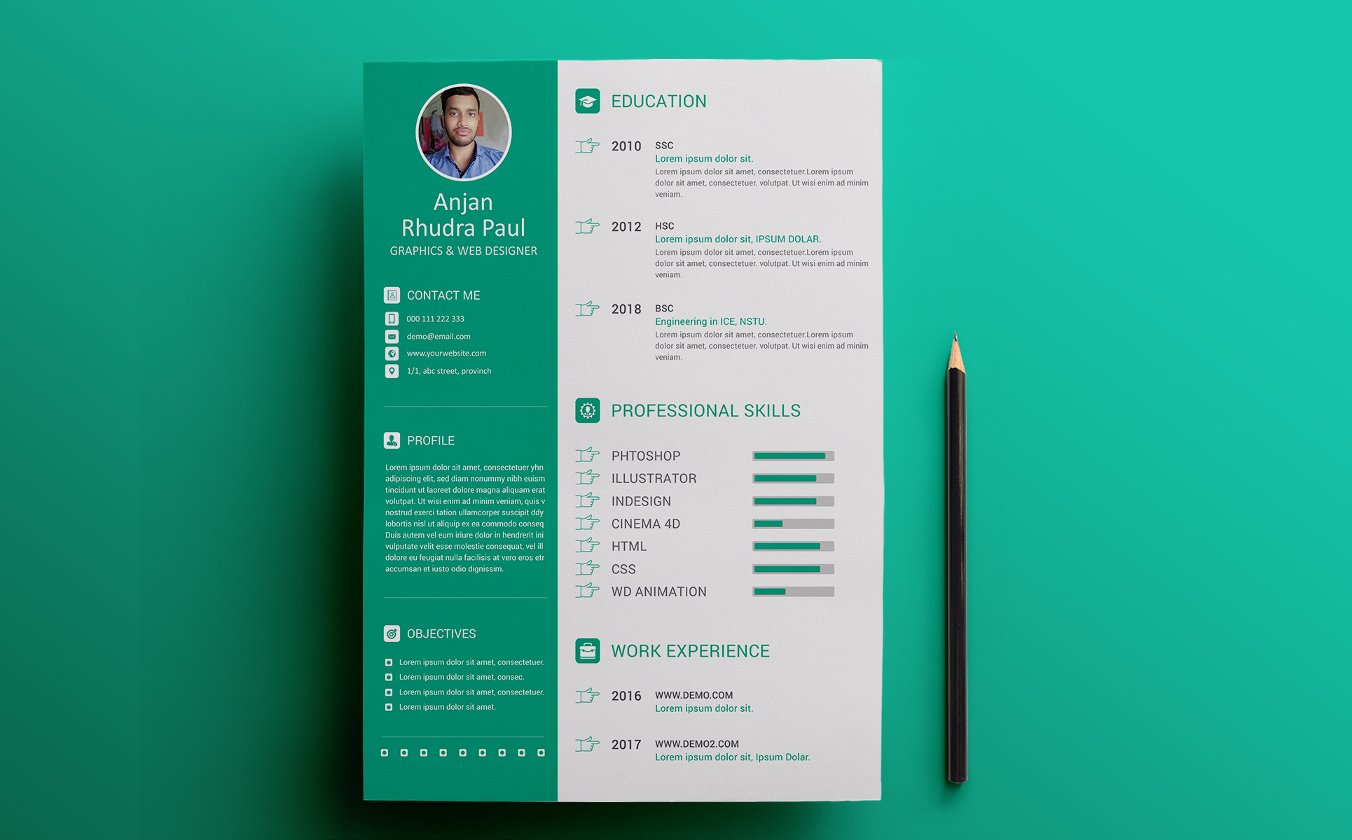 Arp  Graphic Designer Resume Template