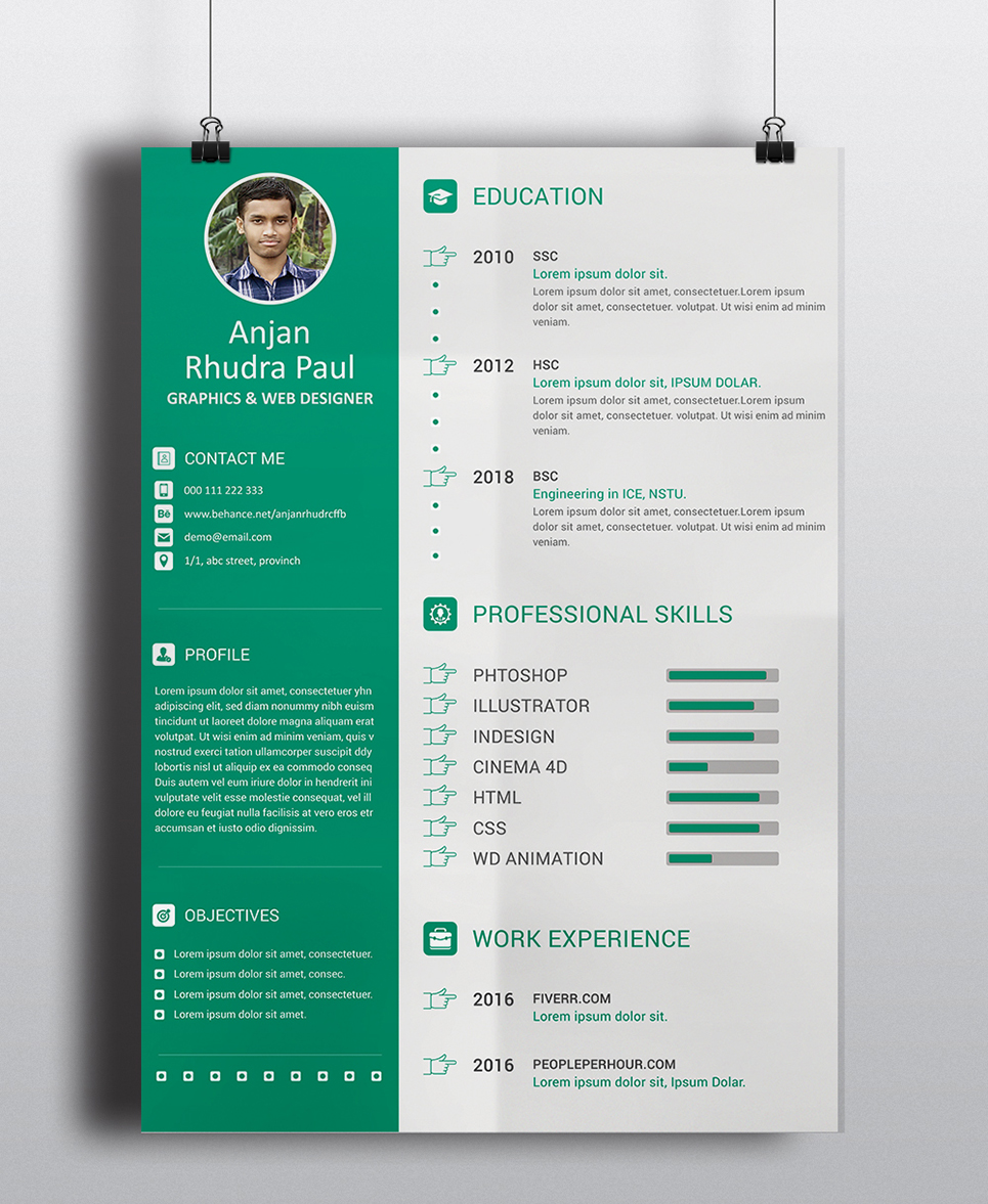Arp Graphic Designer Resume Template 69957