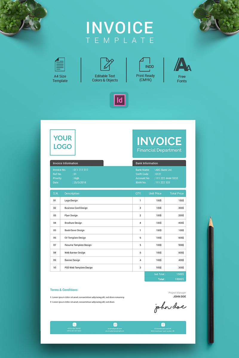 Corporation A Indesign Invoice Corporate Identity Template 70415