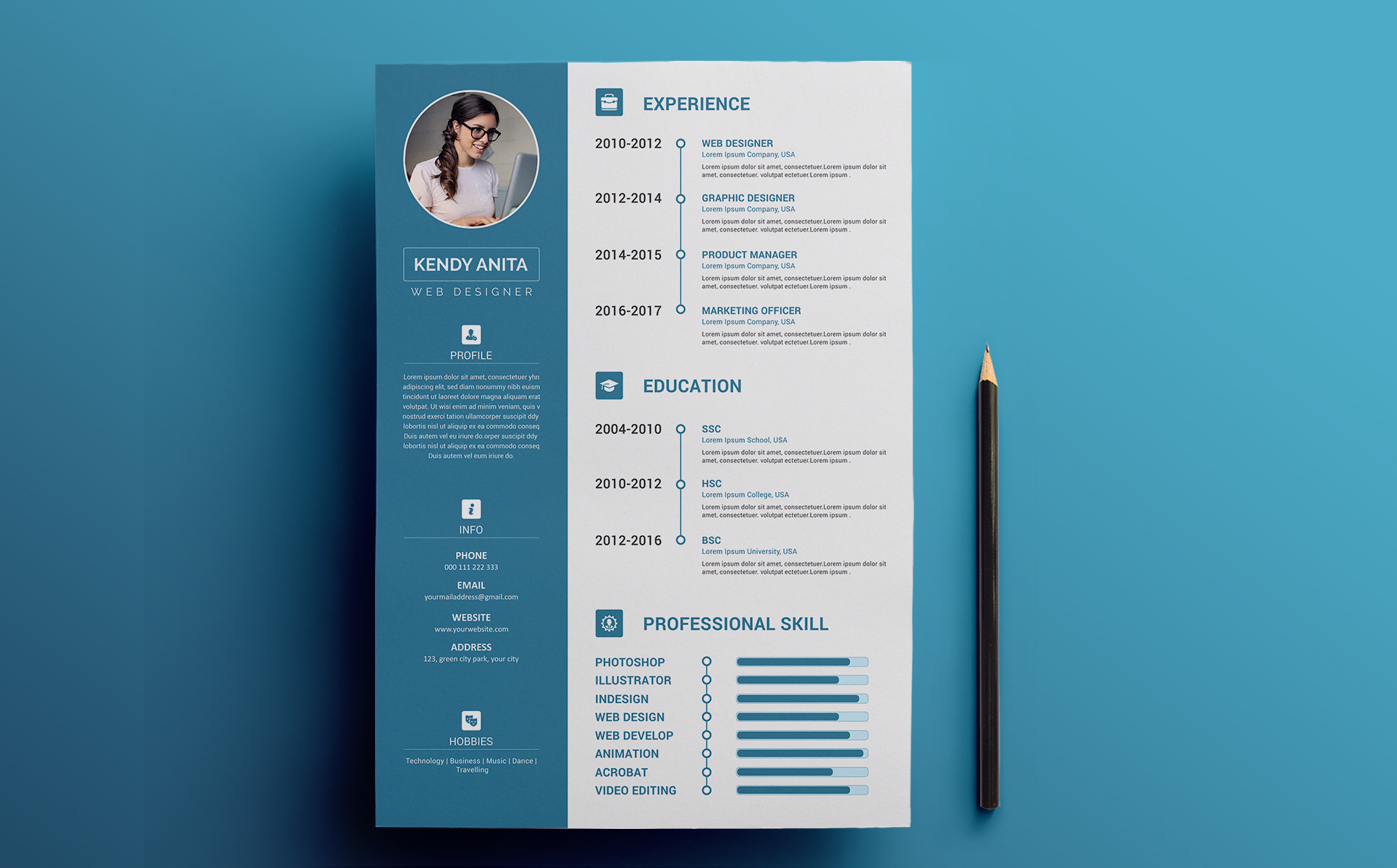 Andy - CV & Resume Template Resume Template #70646