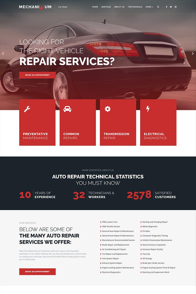 Mechanicum - Car Repair Elementor WordPress Theme