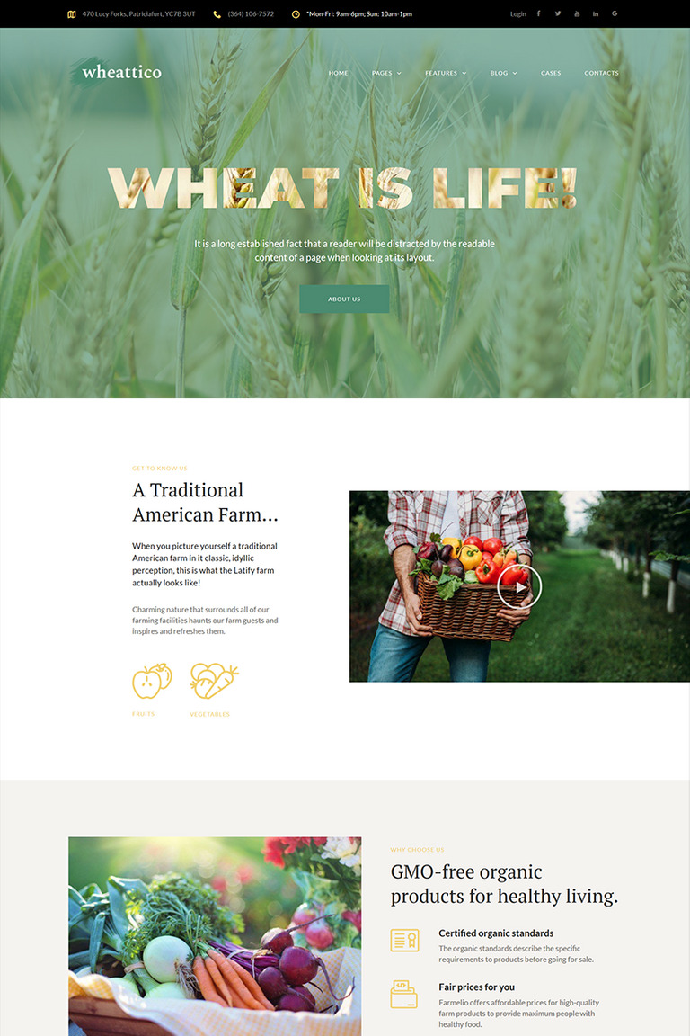 14+ Best Farming WordPress Themes & Templates 2019 [ Download Now ]