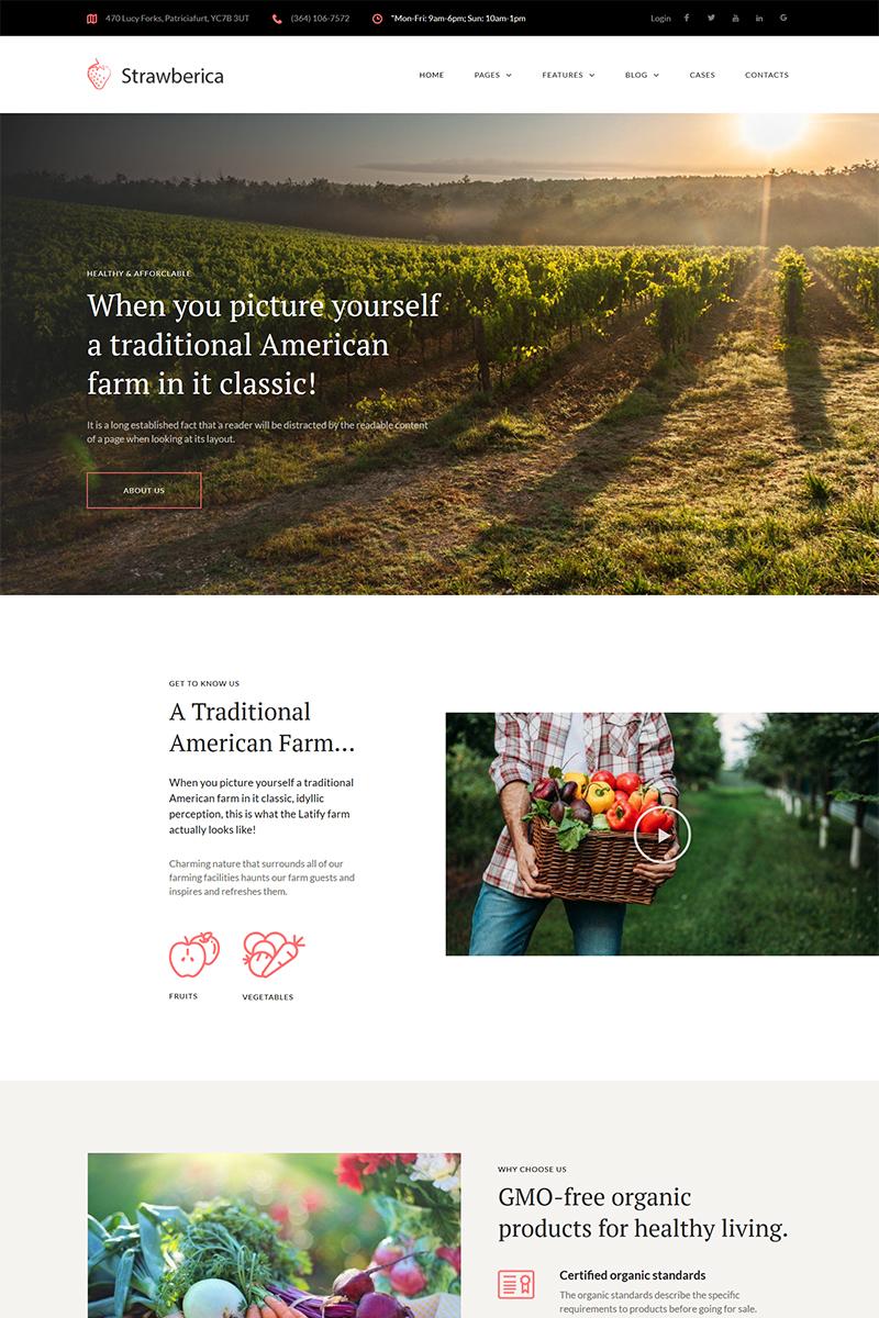 Адаптивный шаблон №68283 на тему бизнес и услуги, сельское хозяйство, фермы