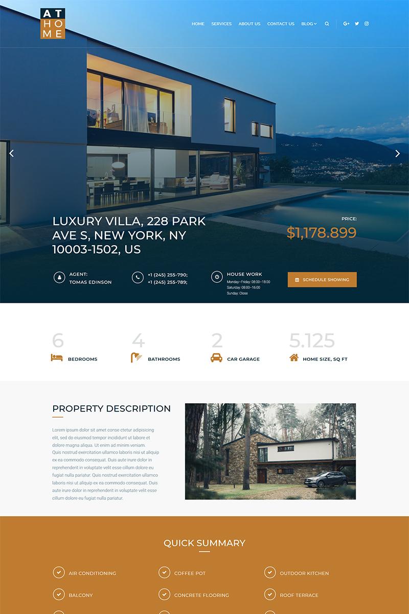 Адаптивный шаблон №68334 на тему недвижимость