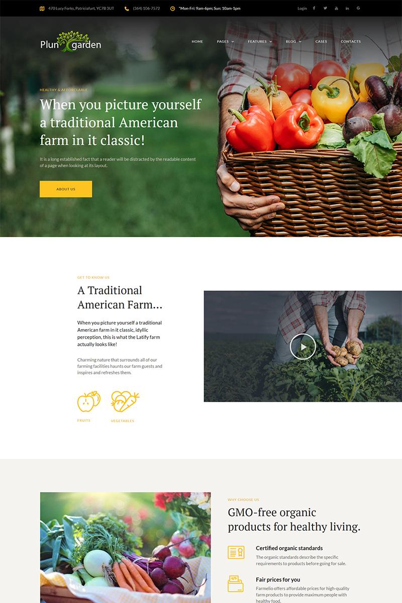 Адаптивный шаблон №68392 на тему бизнес и услуги, сельское хозяйство, фермы