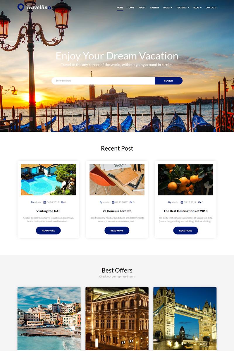 Адаптивный шаблон №68464 на тему спорт, природа и путешествия, агентство путешествий