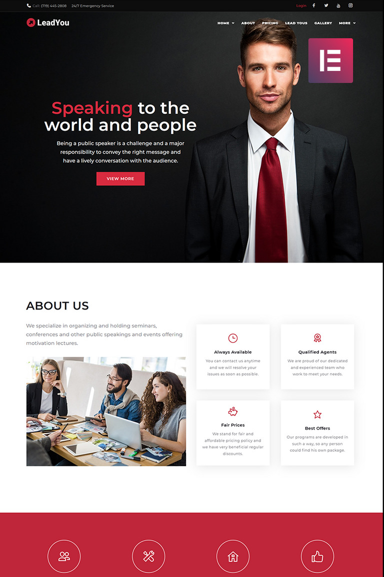 Lead You - Business & Service Elementor WordPress Theme