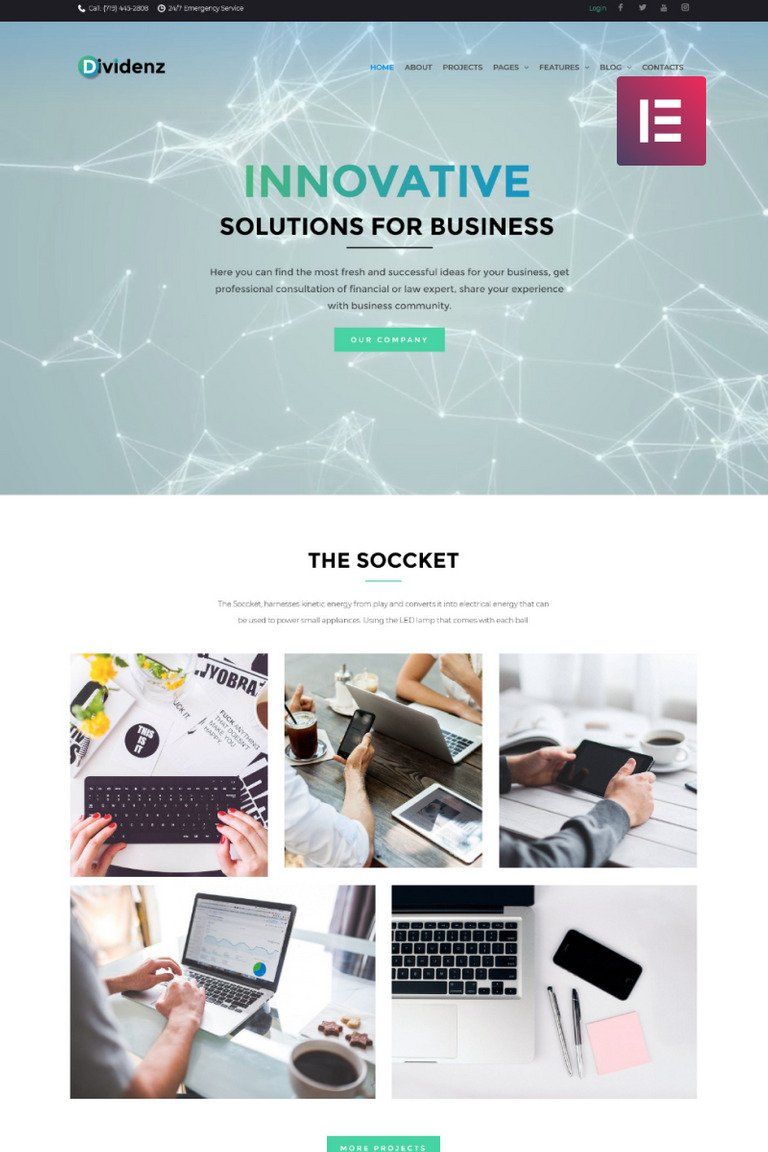 Dividenz - Investment Company Elementor WordPress Theme