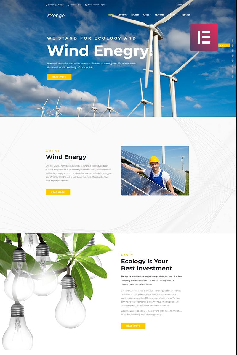 Адаптивный шаблон №70589 на тему бизнес и услуги, окружающая среда, ветряная энергия