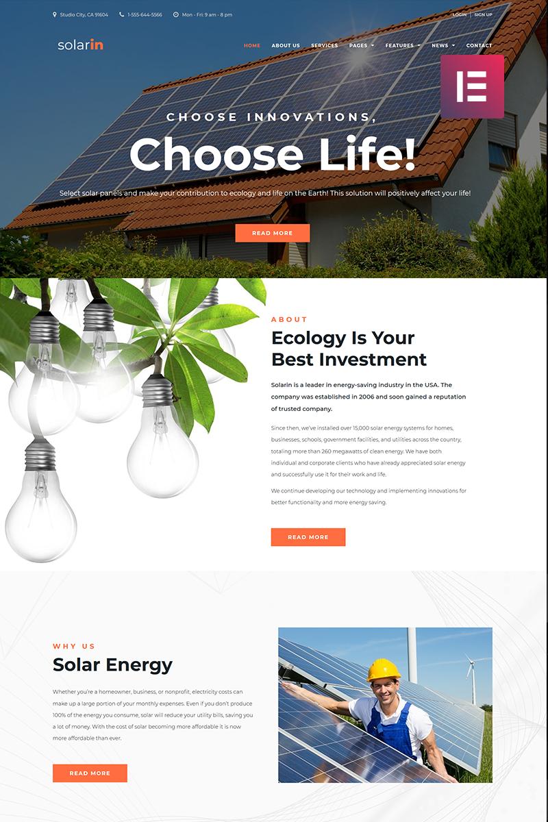 Адаптивный шаблон №70681 на тему бизнес и услуги, окружающая среда, солнечная энергия
