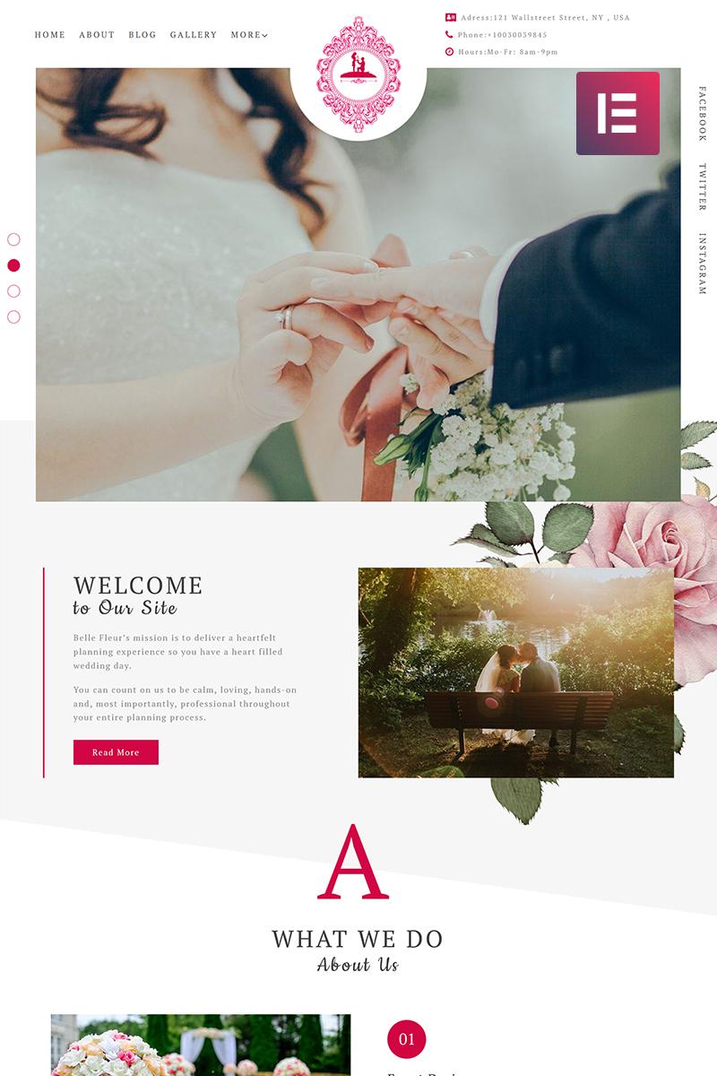 Адаптивный шаблон №71765 на тему мода и красота, свадьба