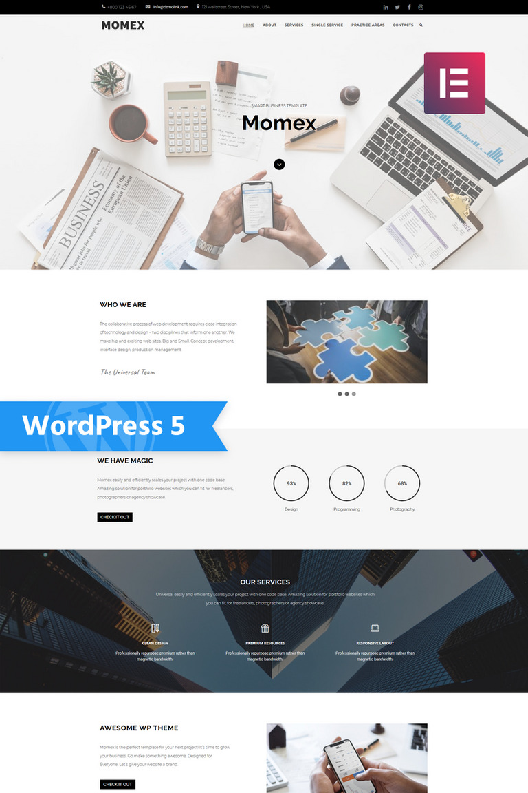 Momex - Business Elementor WordPress Theme