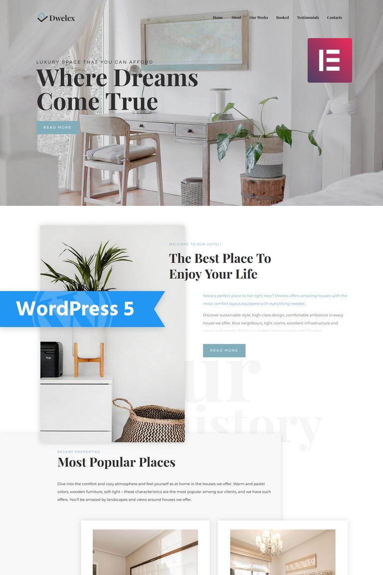 Dwelex - Real Estate One Page Modern Elementor WordPress Theme