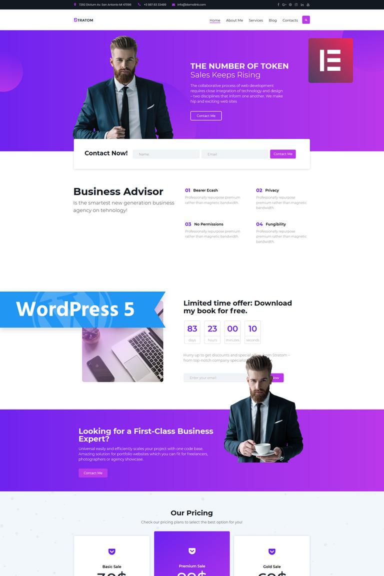 Stratom - Business Multipurpose Animated Elementor WordPress