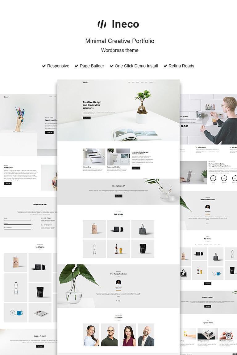 ineco minimal creative portfolio wordpress theme 68323