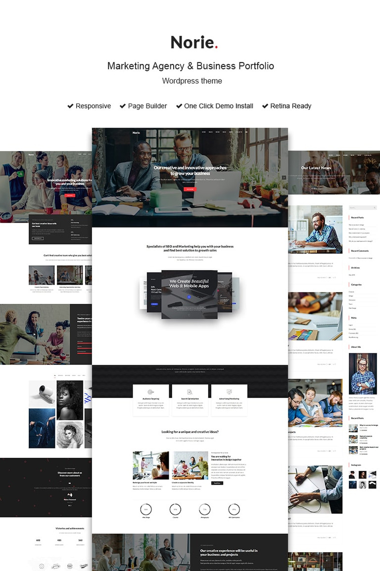 Norie marketing agency business portfolio wordpress theme 73437 norie marketing agency business portfolio wordpress theme big screenshot cheaphphosting Image collections