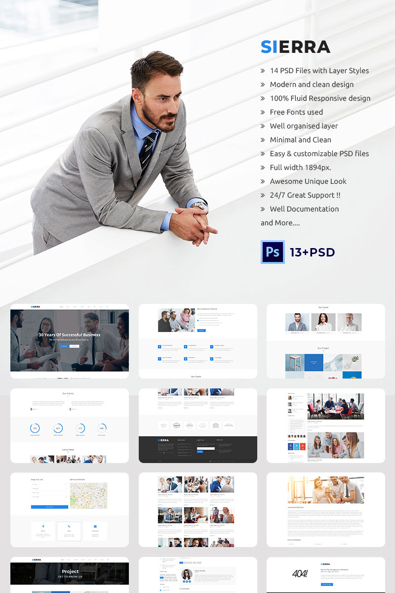 Sierra multipurpose business consulting psd template 70477 sierra multipurpose business consulting psd template big screenshot accmission Gallery