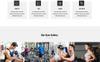 """Landing Page Template namens """"Gym - Parallax"""" Großer Screenshot"""