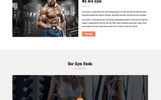 """Landing Page Template namens """"Gym - Parallax"""""""