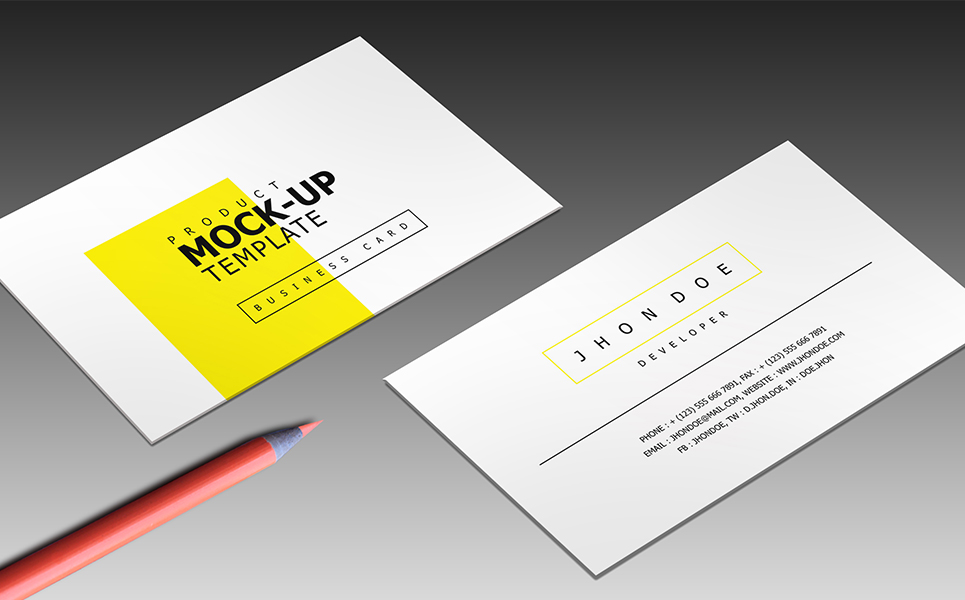 Corporate Business Card Product Mockup #68398