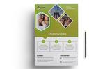 """Фирменный стиль """"Creative Studio Work Flyer PSD"""""""