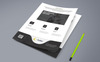 BRAND FLYER Templates with PSD File Format Corporate Identity Template Big Screenshot
