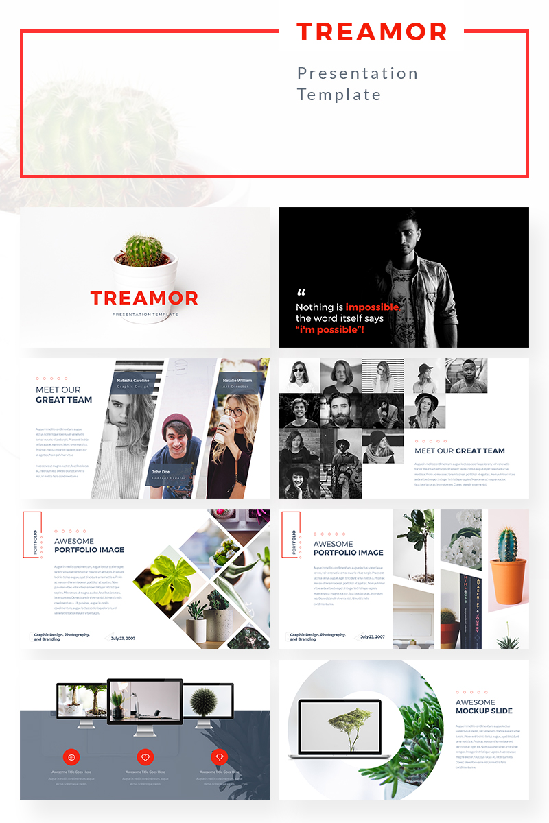 PowerPoint Vorlage #69367 für Design und Fotografie
