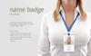 Name Badge Product Mockup Big Screenshot