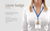 Name Badge Product Mockup