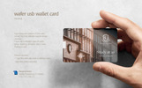 Wafer USB Wallet Card Product Mockup