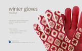 Winter Gloves Product Mockup