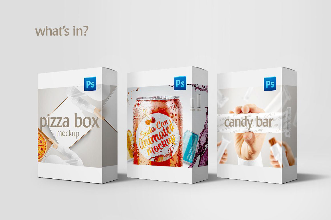 food drinks packaging mockup set bundle 68881