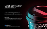 Large Coffee Cup Animated Product Mockup
